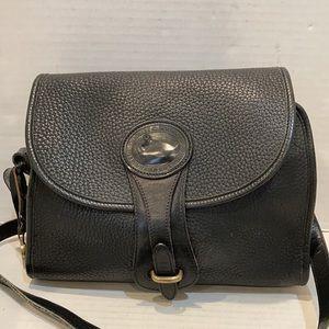 Dooney Bourke Vintage Leather Black Crossbody Bag
